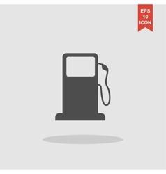 Gasoline pump nozzle sign gas station icon vector
