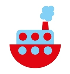 boat toy isolated icon design vector image