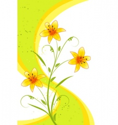 abstract lilies background vector image vector image