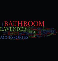 Bathroom accessories online text background word vector