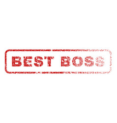 best boss rubber stamp vector image vector image