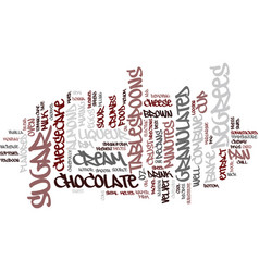 best recipes chocolate velvet cheesecake text vector image vector image