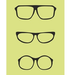 Black nerd secretary or teacher glasses vector