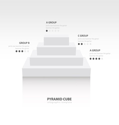 Business infographics pyramid cube white color vector