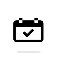 Calendar event day simple icon on white background vector