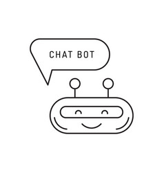 Chatbot outline icon vector