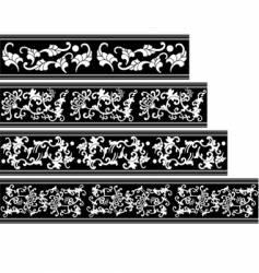 china seamless ornate border vector image vector image