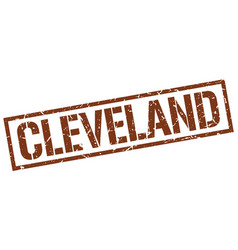 Cleveland brown square stamp vector