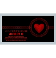 Creative concept background of the red heart vector