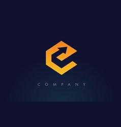 e logoe letter icon design vector image vector image
