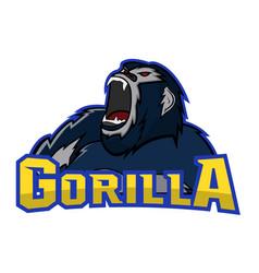Gorilla logo mascot vector