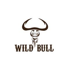 Head of wild bull vector