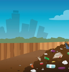 landfill vector image vector image