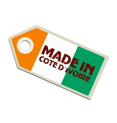 Made in Ivory Coast vector image