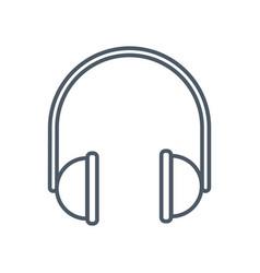music headphones device vector image vector image