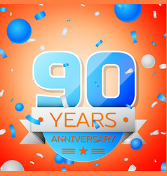 Ninety years anniversary celebration vector