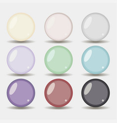 set of colored vector image vector image