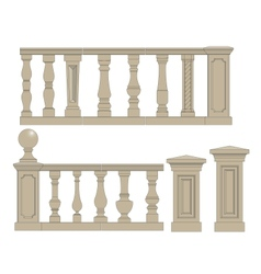 Set of silhouettes balusters vector image vector image