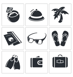 Travel icon collection vector