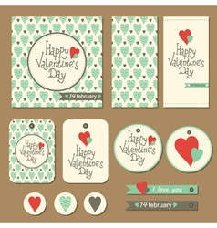 Valentines cards set vector