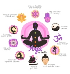 Yoga Infographics Set vector image