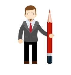 Business man with pencil vector image