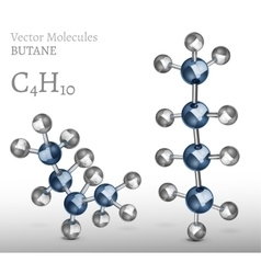 Butane molecules set vector