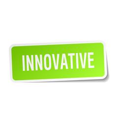 Innovative square sticker on white vector