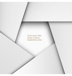 3d paper geometric background vector image