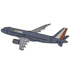 Dark blue airliner vector