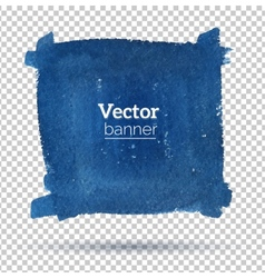 Hand drawn watercolor banner vector