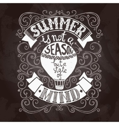 Summer poster black vector