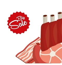 Sale of butcher products vector