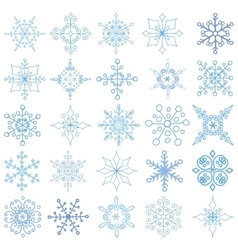 Snowflakes big setchristmasnew yearwintershapes vector
