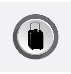 Baggage icon luggage for traveling info symbol vector