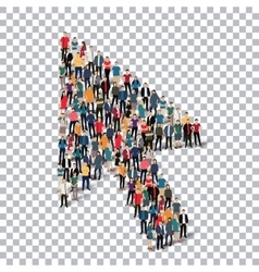 cursor people sign 3d vector image