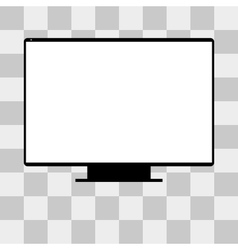 Monitor tv screen on transparent vector