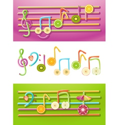 Fruit music vector