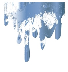 Blue paint drips design element vector