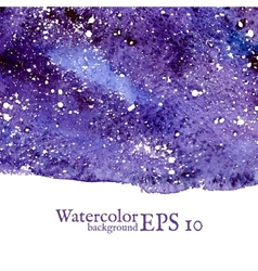 Blue space background Watercolor vector image vector image