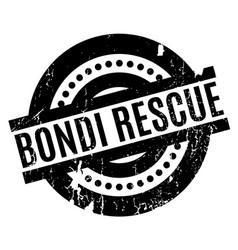 Bondi rescue rubber stamp vector
