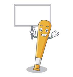 Bring board baseball bat character cartoon vector