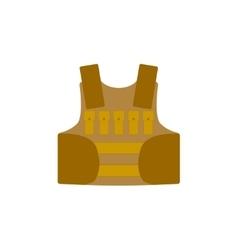 Bullet proof vest body armor suit vector