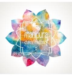 Chakra Manipura frame vector image vector image