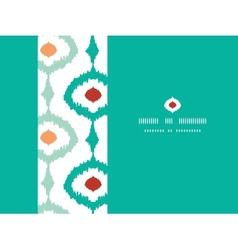 Colorful chain ikat frame horizontal seamless vector image
