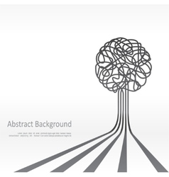 Concept of tree background design vector