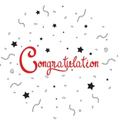 Congratulations lettering with confetti vector image vector image