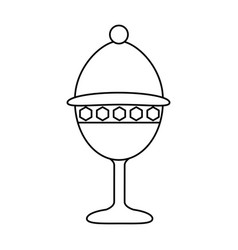 cup chalice isolated icon vector image