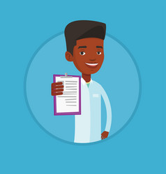 doctor with clipboard vector image