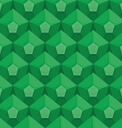 Emerald seamless texture gem background green vector